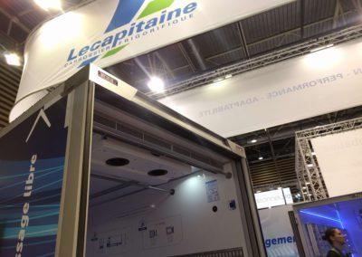 Luchtgordijn in koelwagen van Lecapitaine