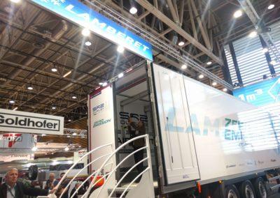Luchtgordijn in Lamberet zero emission koelwagen