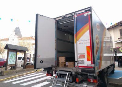 Air curtain BlueSeal installed in Davigel vehicle