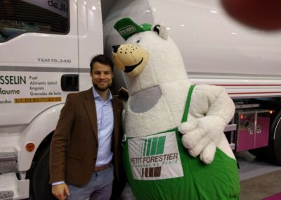 Petit Forestier mascotte with Tom Opdam