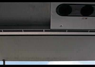 Luchtgordijn naast verdamper koelwagen