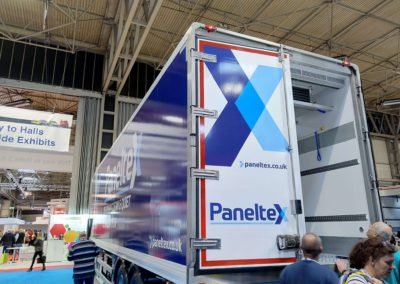 Air curtain in Panelxtex refrigerated truck UK