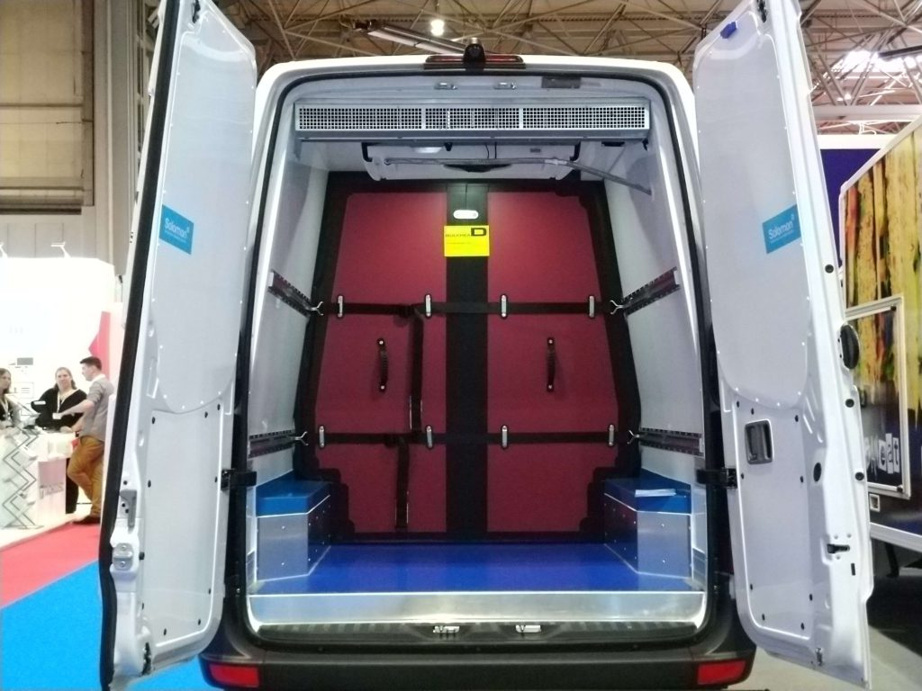 Air curtain in Solomon panel van
