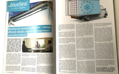 Brightec and BlueSeal air curtains in TCS&D Magazine